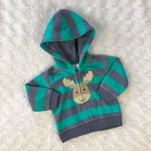 Just One You by Carter's Moose Jacket Stripes NB
